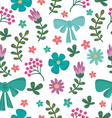 Floral seamless pattern with flowers and brunches vector image vector image
