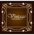 Gold frame with diamond Vintage frame vector image vector image