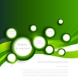 Green background with circles vector image