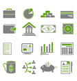 Green Finance Business Icons vector image vector image