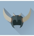 Helmet Headpiece with Horns Medieval Armour vector image vector image