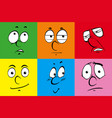 human faces on colorful background vector image vector image