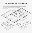 isometric architectural plans vector image