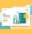 landing page template hire employees concept vector image vector image