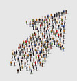 large group of people in an arrow vector image vector image