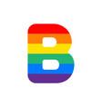 logo letter b rainbow vector image