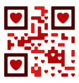 love qro code vector image vector image