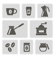 monochrome icons with coffee vector image vector image