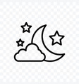 moon at night icon isolated on transparent vector image