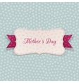 Mothers Day paper Banner with festive Ribbon vector image vector image