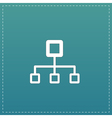Network block diagram vector image