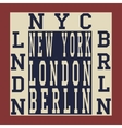 New york Berlin London vector image