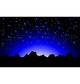 night space landscape vector image vector image