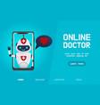 online robot doctor vector image