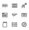 panel icons vector image vector image