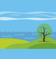 panoramic cartoon landscape vector image vector image