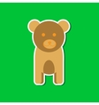 paper sticker on stylish background cartoon bear vector image