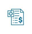 pharmacy prescription health care contract vector image vector image