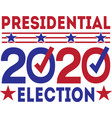 presidential 2020 election isolated on white vector image vector image