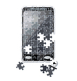 puzzle smart phone broken vector image vector image