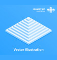 pyramid icon geometric composition vector image vector image