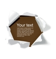 Realistic torn paper with space for your text