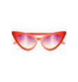 red fashion women retro sunglasses with violet vector image