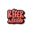 refer a friend stylized quote text vector image vector image