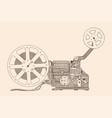 retro cinema projector vector image