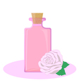 Rose essential oil vector image vector image