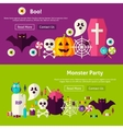 Scary Party Website Banners vector image vector image