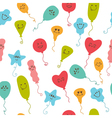 Seamless pattern with party balloons of different vector image vector image