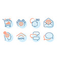 seo shopping messenger and thoughts icons set vector image vector image