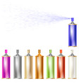 set of colored sprays isolated vector image