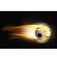 Soccer ball on fire vector image vector image