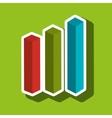statistics icon design vector image