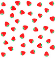 Strawberry berries on a white seamless pattern vector image vector image