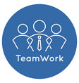 teamwork business concept icon on white background vector image vector image