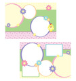tri-folder template for spring vector image vector image