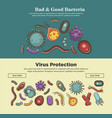 viruses bacteria and microbes medical or vector image vector image