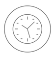 Wall clock line icon vector image vector image