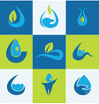 water signs vector image vector image