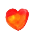 watercolor painted red heart element vector image