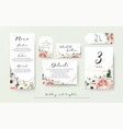 wedding menu information label table number set vector image vector image