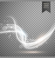 white transparent light effect in wave style vector image vector image