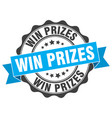 win prizes stamp sign seal vector image vector image