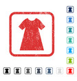 woman dress icon rubber watermark vector image