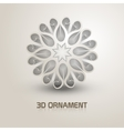 3d Ornament shape icon Trendy shape with shadows vector image