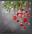 background balls and tree vector image