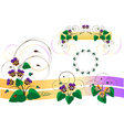 Bouquets of violets pansy vector image